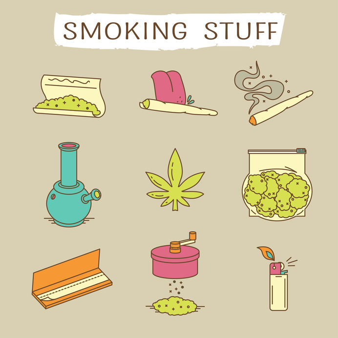 Different types of smoking accessories