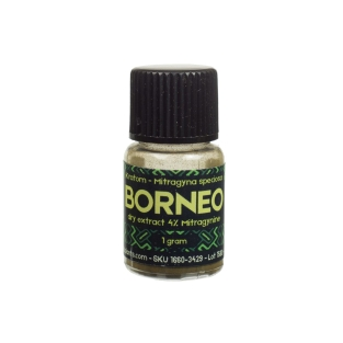 Kratom Borneo Red 4% extract 1g | Sacred Plants